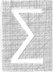 Sigma Sum sign - Freehand Symbol