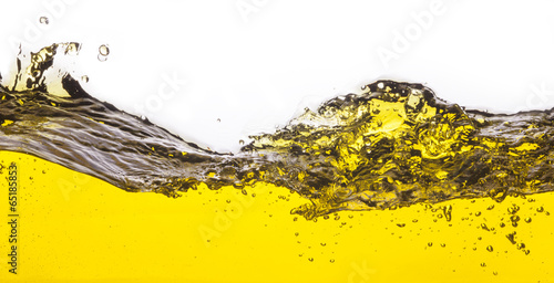 An abstract image of spilled oil . On a white background. - 65185853