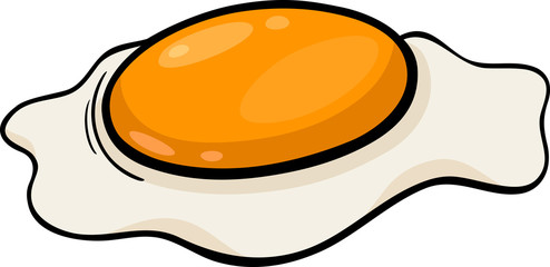 poached egg cartoon illustration