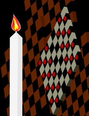 abstract background, vector style, checkers in 3D