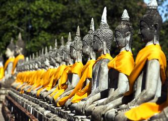 old Temple Wat Yai Chai Mongkhon of Ayuthaya Province Thailand