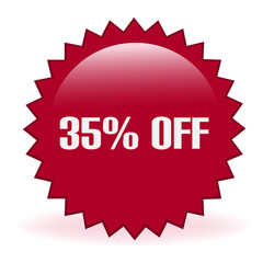Thirty Five Percent Off Discount Sticker