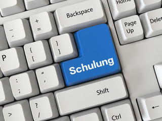 Keyboard with a word schulung