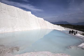 Terrace of Water of Pamukkale in Turkey