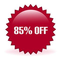 Eighty Five Percent Off Discount Sticker