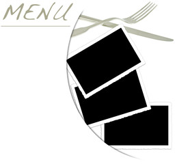 menu restaurant, fonds pour photos