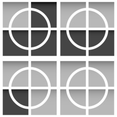 Crosshair, firearms reticle with squares