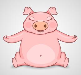 Pig practice in yoga