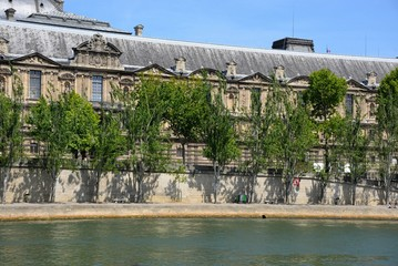 Ancient building near the River Seine in Paris