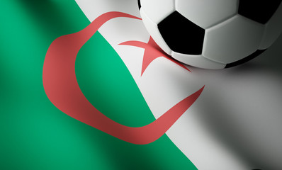 Algerian flag, football