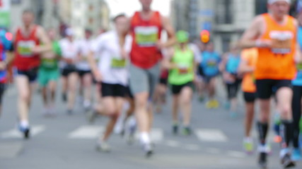 HD - Street Marathon. Defocused