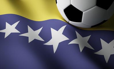 Bosnia Herzegovina flag, football