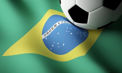 Brazilian flag, football