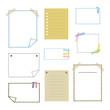 手描き風 メモ用紙セット / vector eps