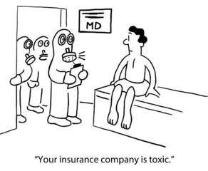 Worried patient sees workers in hazardous material suits