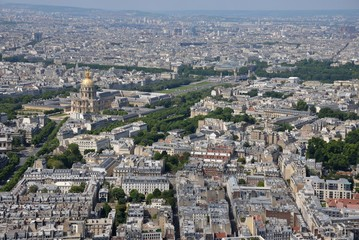 View over Paris, France.