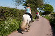 Friends enjoying a ride in the countryside