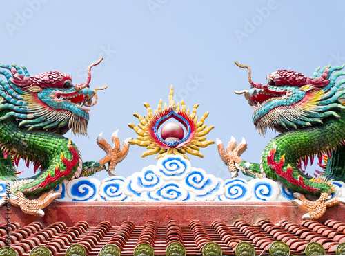 Poster Chinese dragons