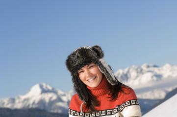 Frau in den Bergen , Portrait