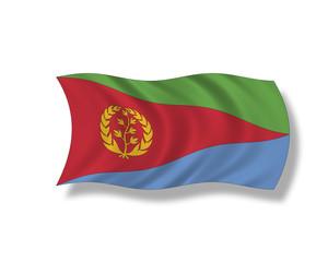 Illustration,Flagge von Eritrea