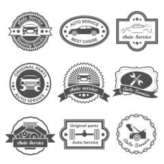 Auto service labels