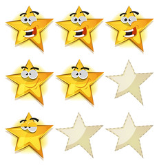Funny Stars Icons For Ui Game Score