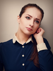 Portrait of a concentrated business young woman