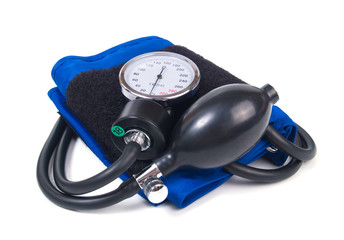 Blood pressure isolated on white