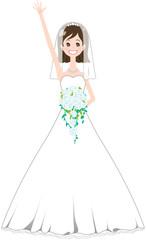 花嫁 手を振る