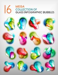 Abstract speech bubble infographics set