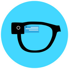 Smart hipster glasses icon