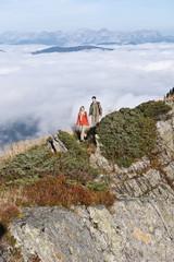 Österreich, Reiteralm , Paar Wanderer