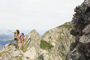 Österreich,Salzburger Land,Paar Wandern