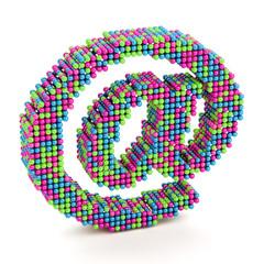 E-mail @ symbol isolated on white