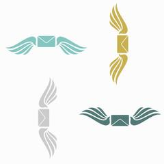 seamless background, wing, angel, envelope