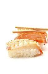 Sushi - ama Ebi Nigiri and salmon