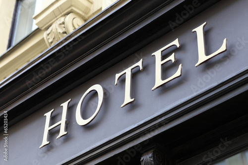 Papiers peints Prague Hotel sign