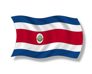 Illustration,Flagge von Costa Rica