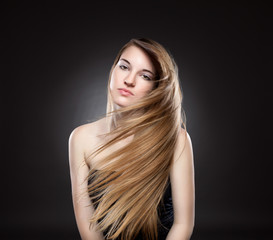 Young beauty with long hair