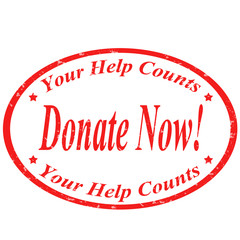 Donate Now !-stamp