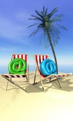 arobases en vacances