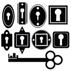 key and keyholes