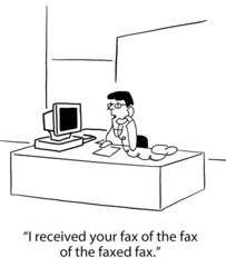 Faxed fax