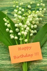 życzenia urodzinowe i konwalie