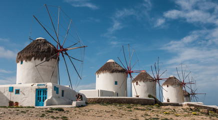 Windmills, Mikonos, Greece