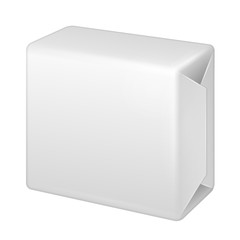 White Wrap Package Bundle Box. Packaging For Parcel Post