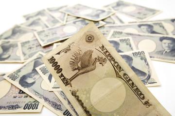 Japanische Devisen, tausend und zehntausend Yens