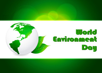 Illustration of world environment day concept background.