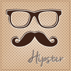 Eye glasses and mustache