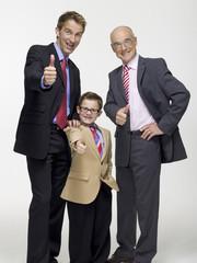 Enkel (8-9) Großvater und Sohn trägt Business- Tuch,Portrait